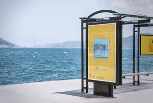 公交站广告展示